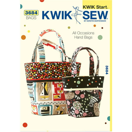 Kwik Sew Pattern All Occasions Hand Bags, (Small and Large)