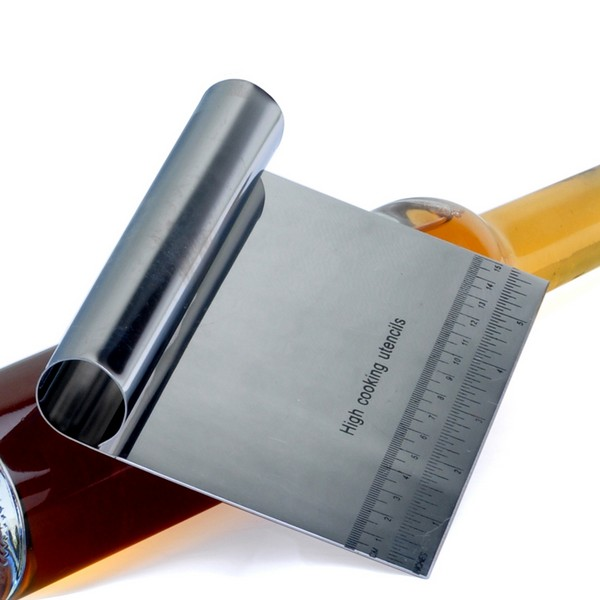 Stainless Steel Pizza Dough Scraper Cutter Kitchen Flour Pastry Cake Tool Scale Today's Special Offer!