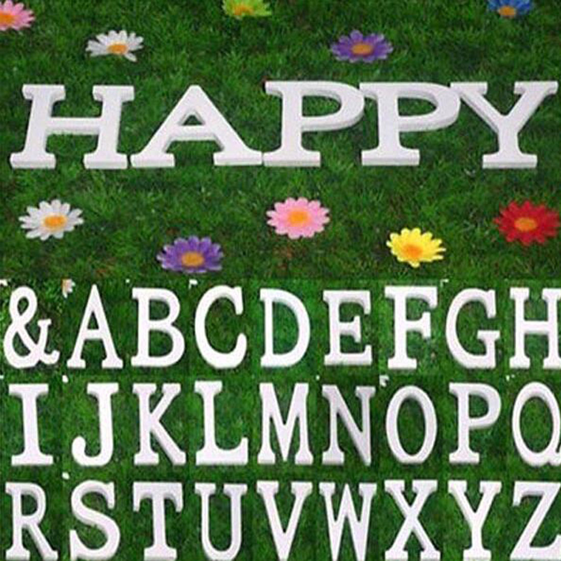Wedding Party Home Plywood Decoration English Q Letter Alphabet DIY Wall White - image 1 of 3