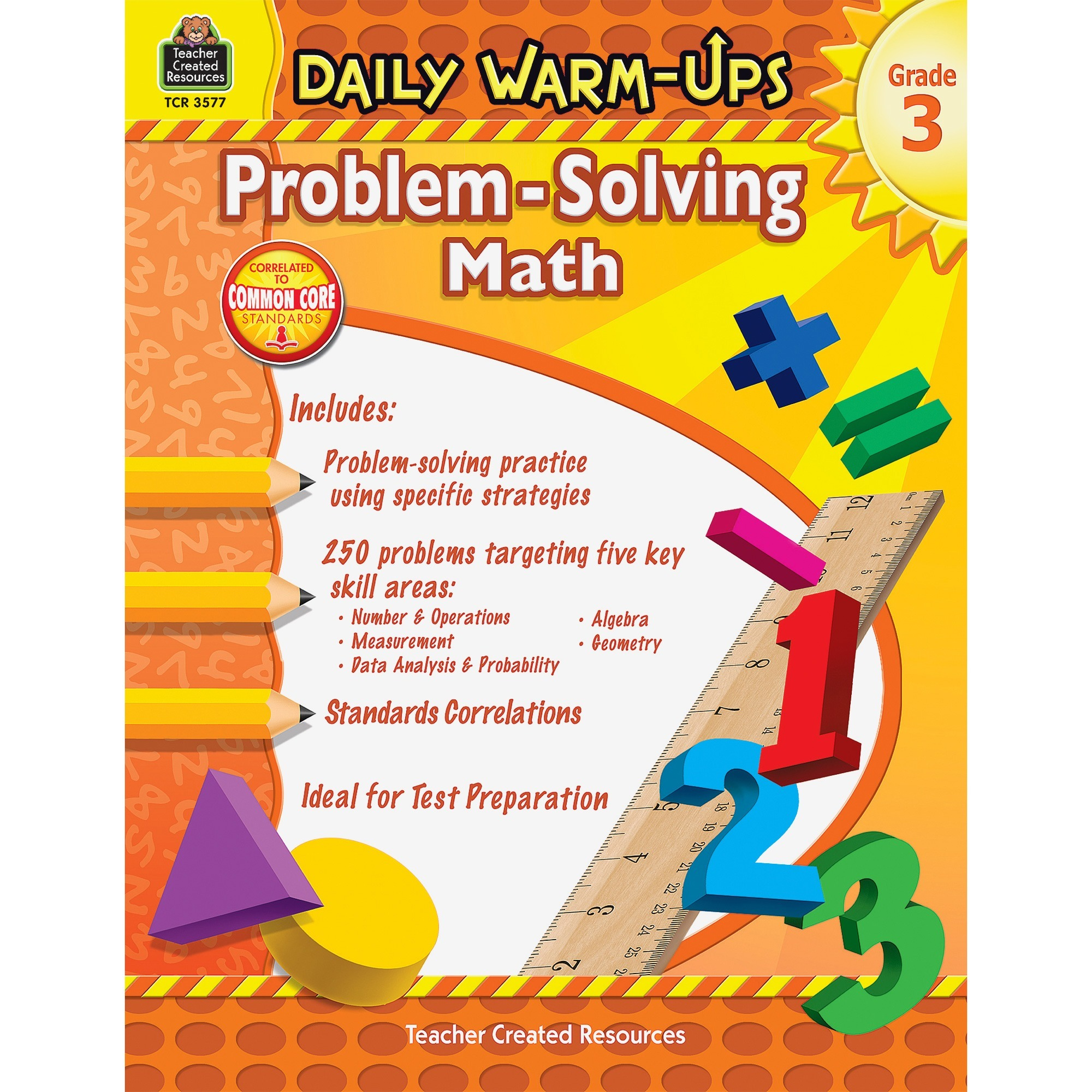 Teacher Created Resources, TCR3577, Gr 3 Daily Math Problems Book, 1 Each