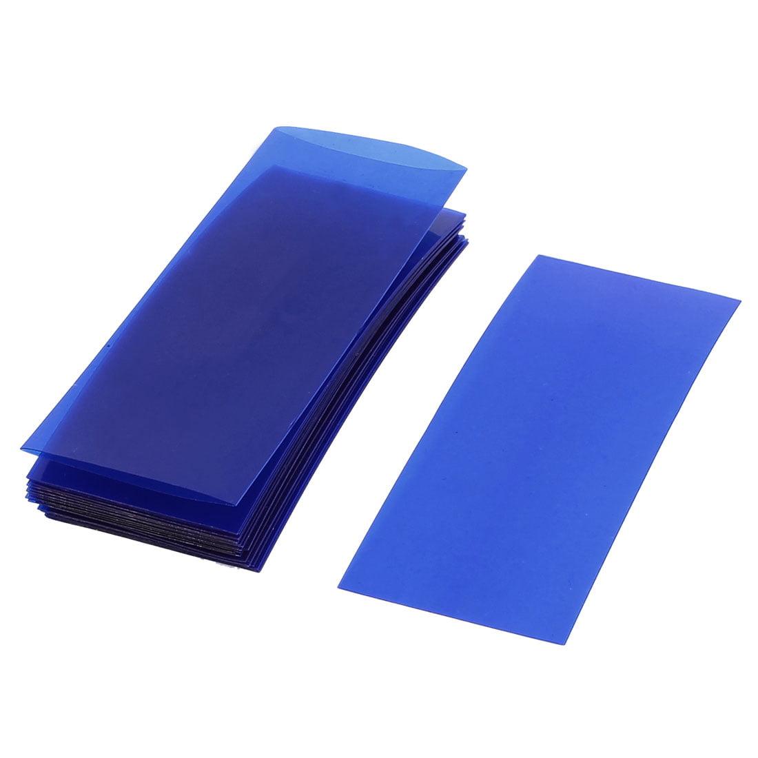 Unique Bargains 20pcs 73mm x 18.5mm PVC Heat Shrink Tubing Clear Blue for 1 x 18650 Battery