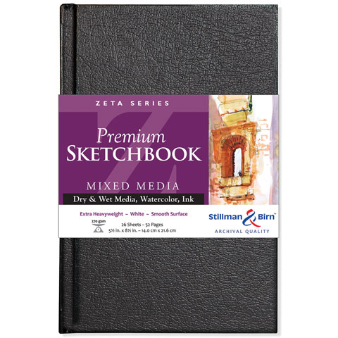 """Stillman & Birn - Zeta Series Premium Hard-Bound Sketch Book - Hard-Bound - A4 (8.27"""" x 11.69"""")"""