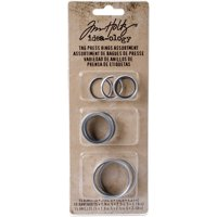 Tim Holtz Tag Press Rings Assorted 15/Pkg-