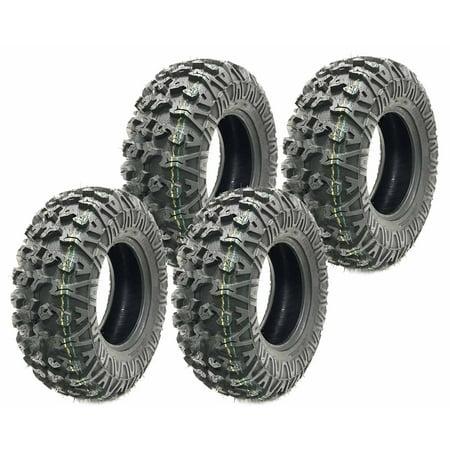 Atv 4 X 4 - Set of 4 premium Free Country ATV UTV tires 25x10-12 25x10x12 8PR Sidewall Guard