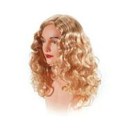Star Power Women Superstar Wavy Costume Wig, Blonde, One Size