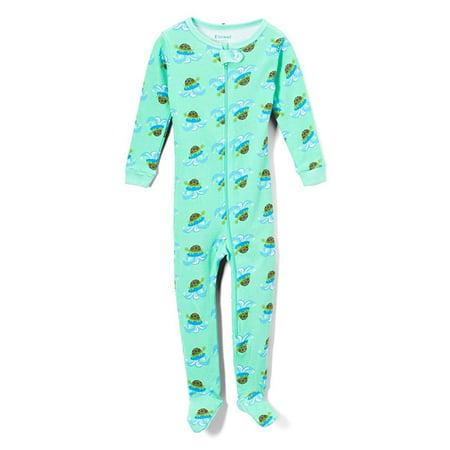 Green Footed Sleeper Pajamas (Elowel Baby Boys Footed Turtle Pajama Sleeper 100% Cotton Size 12-18 Months)