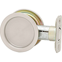 Kwikset 334 Round Hall/Closet Pocket Door Lock In Antique Nickel