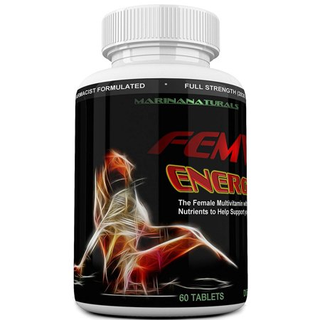 FEMVIT ENERGY Booster The Female Vitamins, Multi-Minerals and Herbal Extracts that helps Enhance your Energy and Focus Too. 60 (Herbal Energy Boosters)