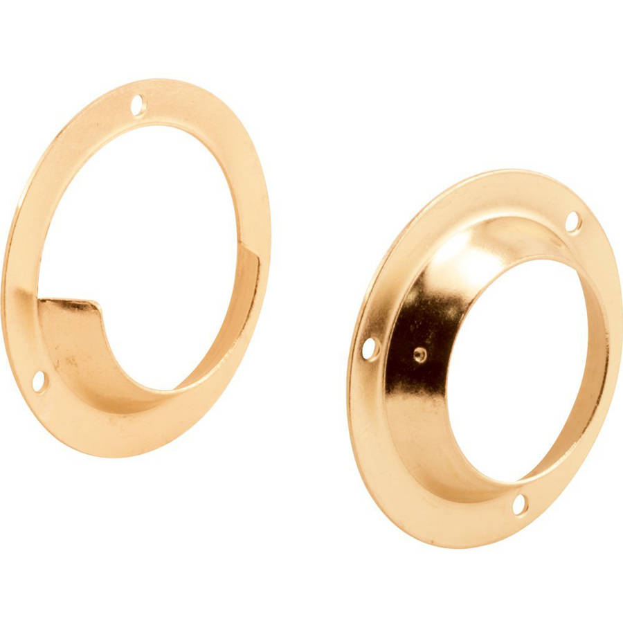 Prime-Line Products N 6987 Closet Pole Sockets with 1-3/8-Inch Pole, Brass Plated