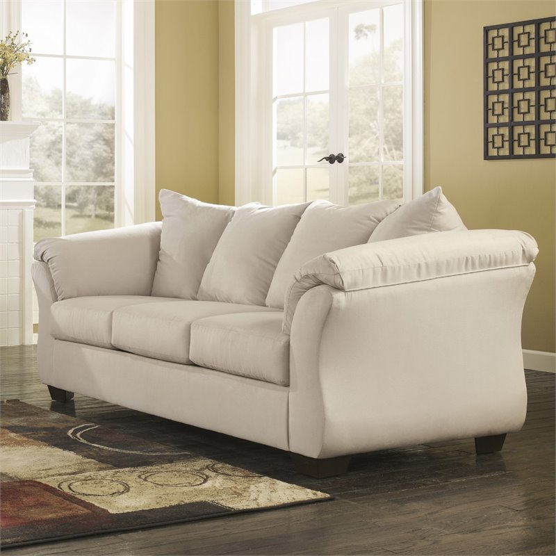 Flash Furniture Fabric Sofa in Stone by Flash Furniture