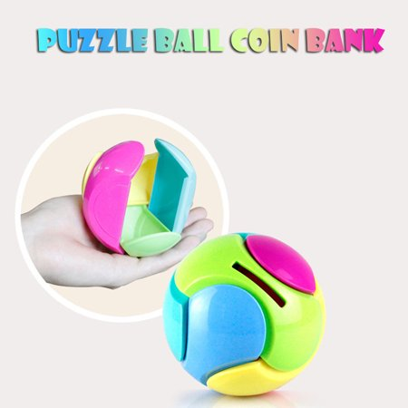 - Smart Novelty Puzzle Ball Coin Bank Piggy Bank Puzzle Game Saving Money Educational Toys Gifts