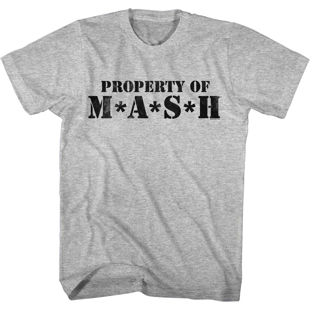 Mash Men's  Property Of Mash Slim Fit T-shirt Gray Heather
