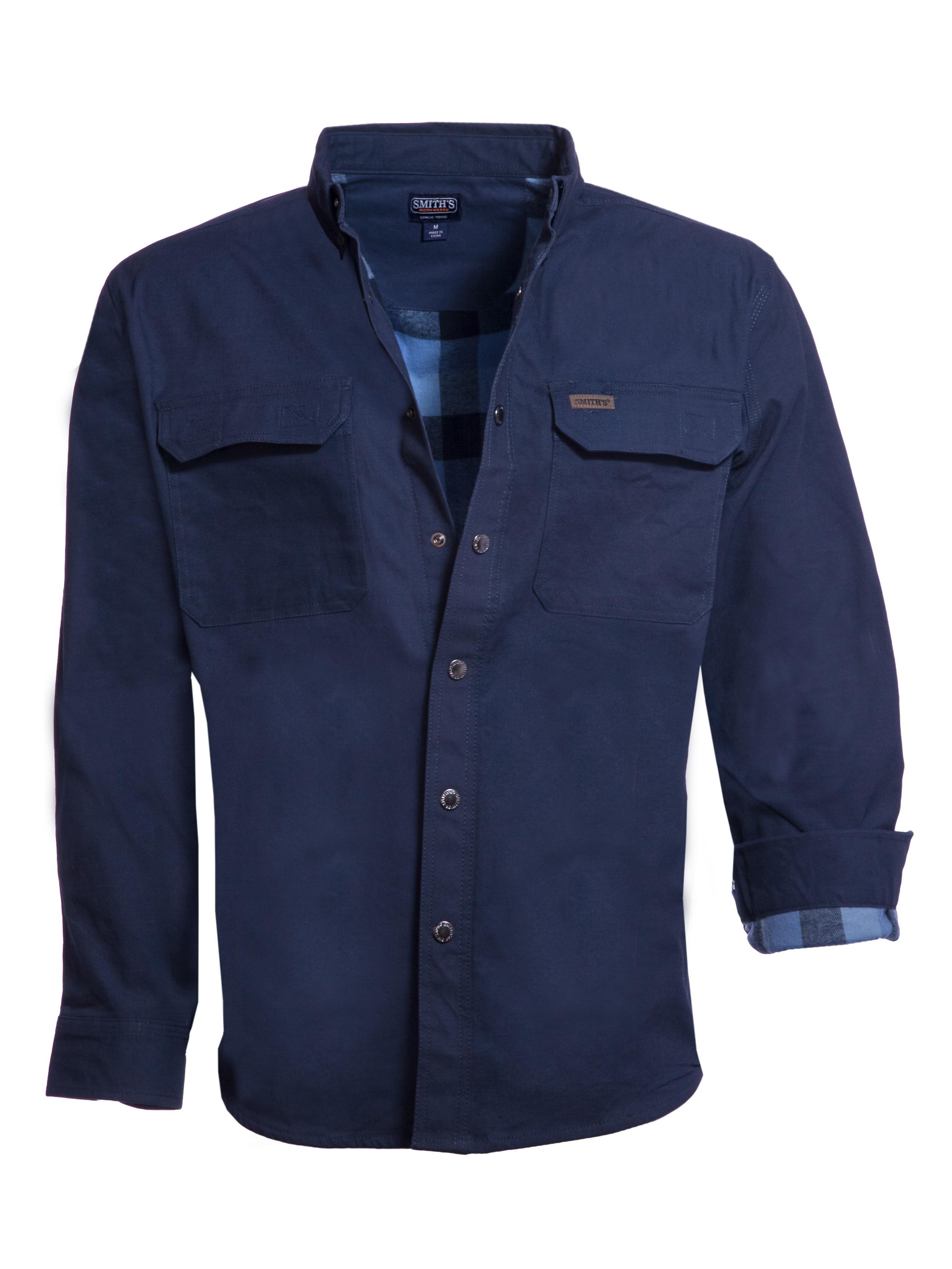 Smiths Workwear Mens 100/% Cotton 4 Oz Flannel Shirt