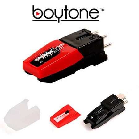 Boytone Stylus - Cartridge with ceramic needle for most turntable record players. P-mount Turntable Cartridge