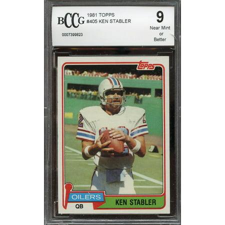 1981 topps #405 KEN STABLER houston oilers BGS BCCG 9