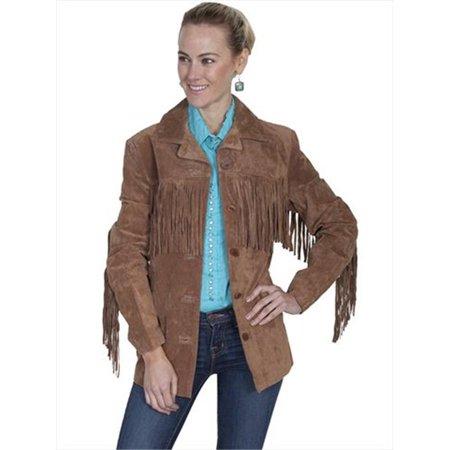 Womens Leather Jacket - Cinnamon Boar Suede, Medium