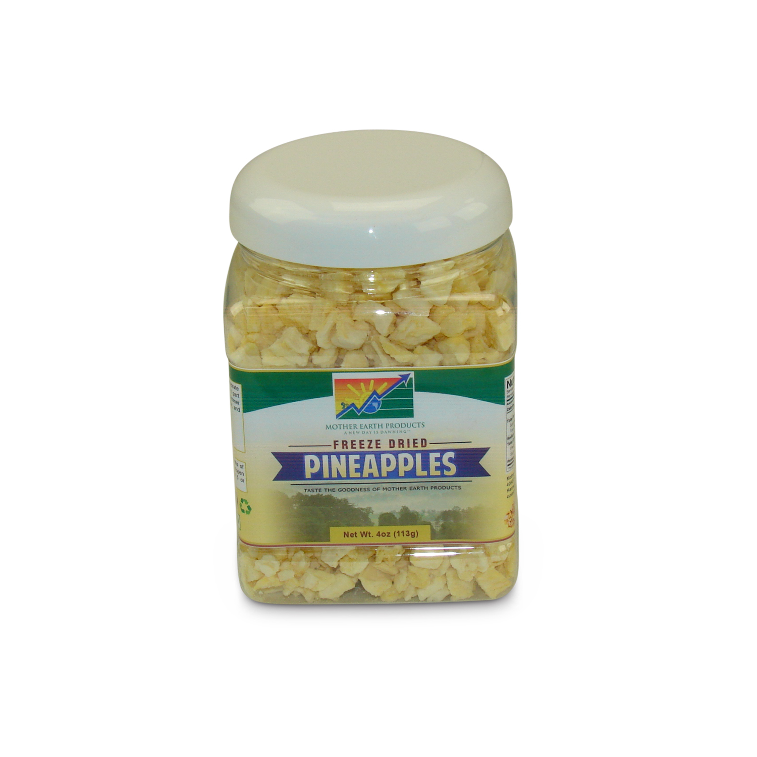 Mother Earth Products Freeze Dried Pineapples, jar by Mother Earth Products