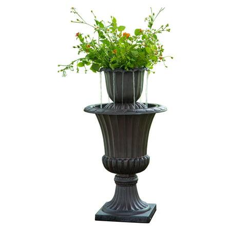 Peaktop - Outdoor Urn Flower Pot Water Fountain