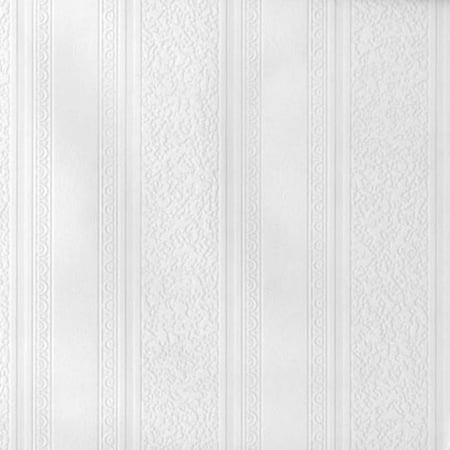 Brewster Dorothy Textured Stripe Paintable - Paintable Wallpaper Borders