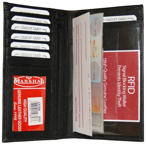 Checkbook, Card Holder & ID Holder RFID 853 Black