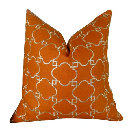 Plutus Brands Plutus Fresh Mango Handmade Throw Pillow, 20 x 26 Standard, OrangeWhite - image 1 of 1