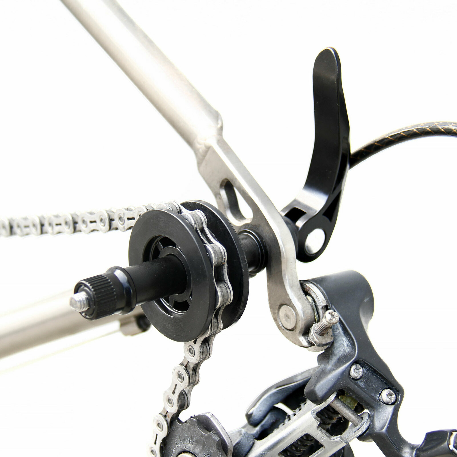 DV/_ Bicycle Cycling Chain Keeper Holder For Bike Dummy Hub Quick Cleaning Tool