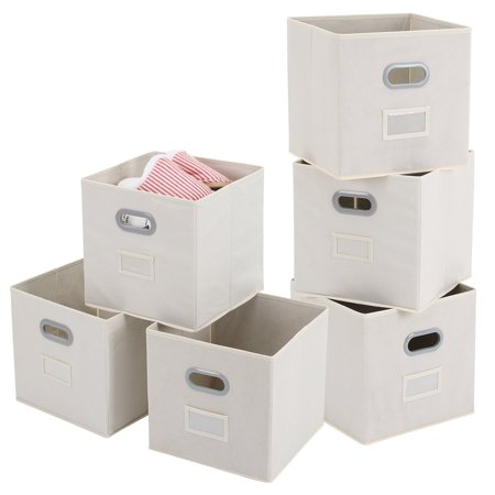 Cloths Storage Bins With Label Holders Magicfly 6 Pack