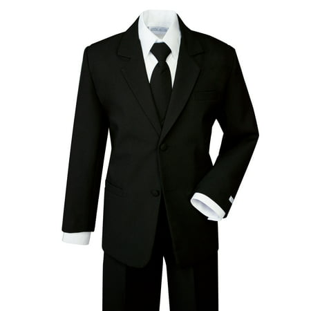 Spring Notion Boys' Formal Black Dress Suit Set (Boys Zoot Suits)