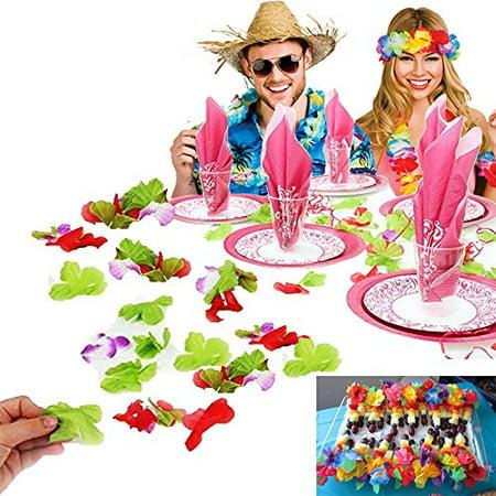 Hawaiian Decoration (Dazzling Toys Luau Loose Flower Leis Flowers Hawaiian Party Decoration)