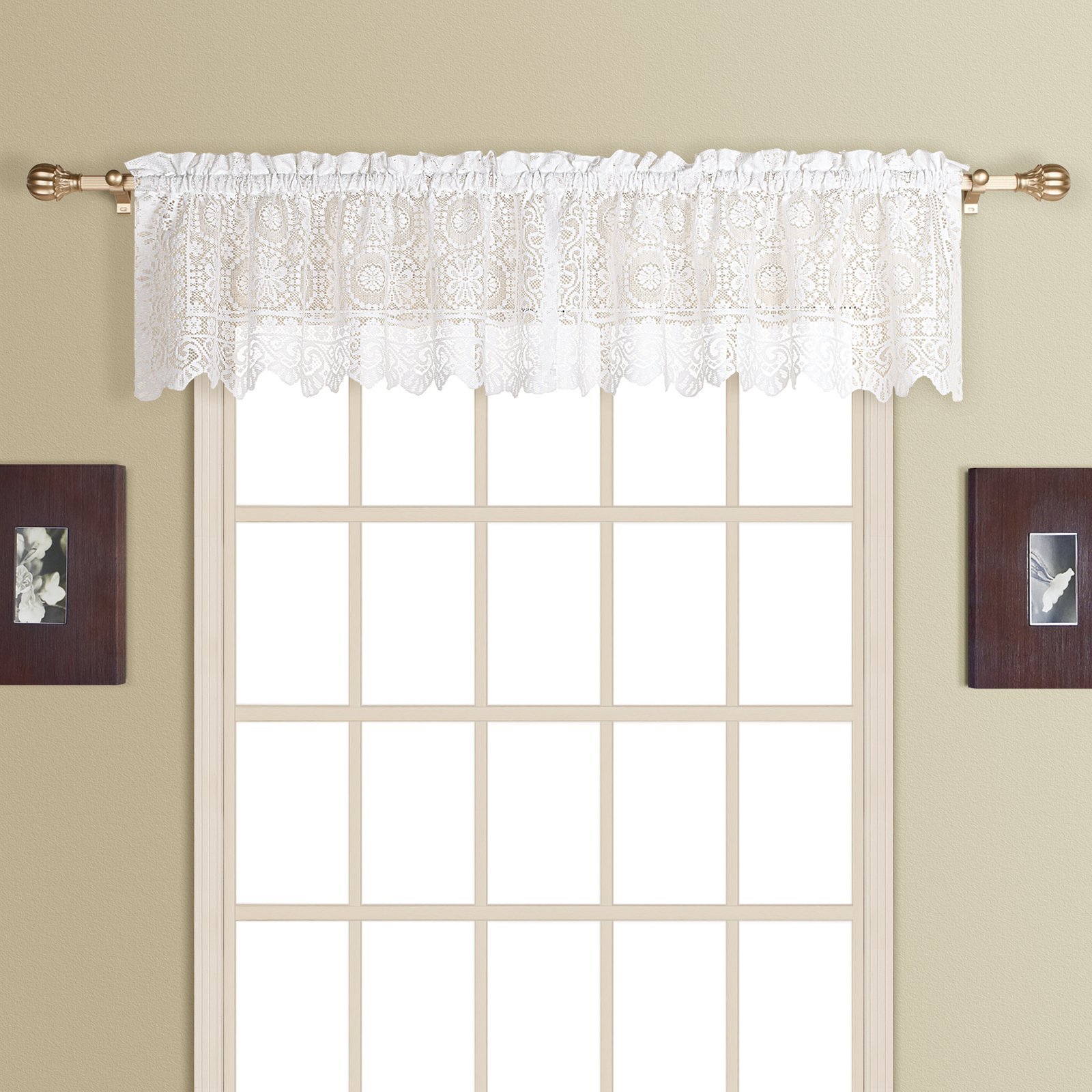 United Curtain New Rochelle Straight Valance
