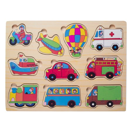 Cool Games For 10 Year Olds Girls (Eliiti Wooden Vehicles Puzzle for Toddlers 2 to 4 Years Old)