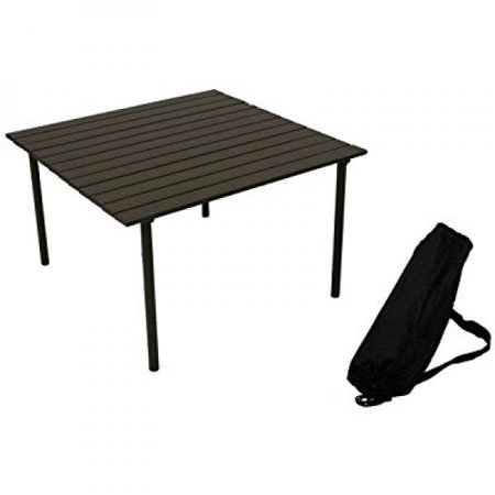 table in a bag a2716 low aluminum portable table with carrying bag, (Barcelona Low Table)