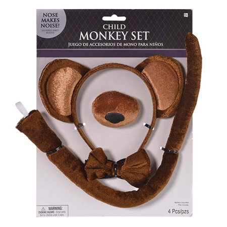 Halloween Monkey Child Costume Accessory Kit (70's Accessories For Costume)
