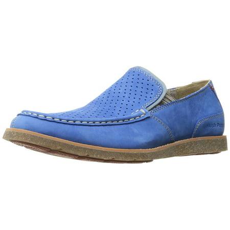 Hush Puppies Men's Azure Blue Suede Lorens Jester Slip-on Loafer