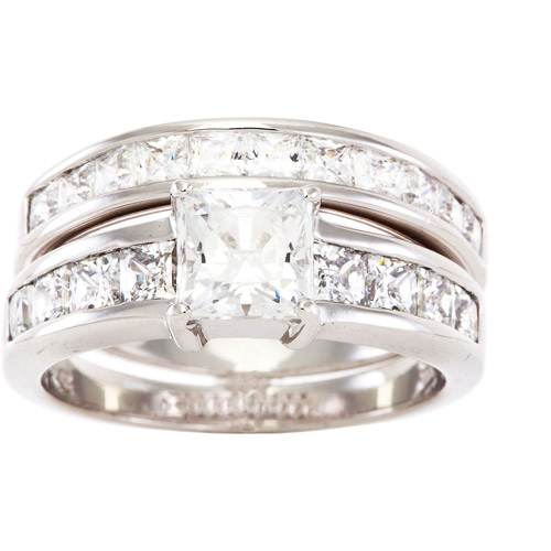 4.74 Carat T.G.W. Cubic Zirconia Ring in Sterling Silver