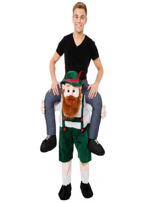 Santa Lift Me Up Shoulder Ride On Adults Christmas Xmas Costume Office Party Fun