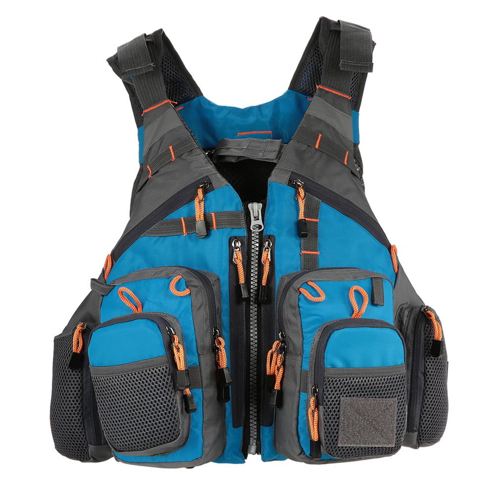 Lixada Outdoor Breathable Fishing Life Vest Swimming Sailing Life Jacket Utility Floating Waistcoat Device by
