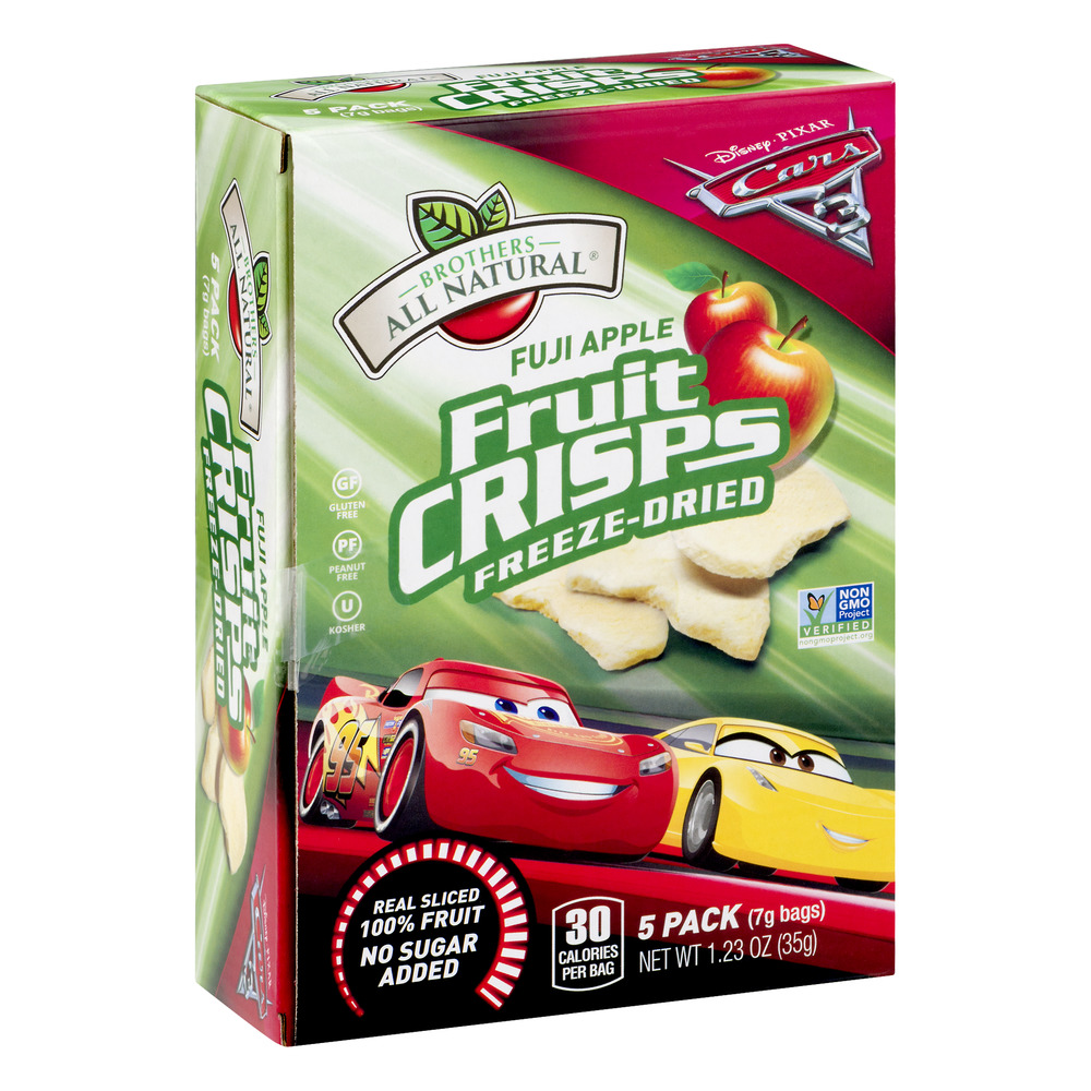 Brothers All Natural Cars Freeze Dried Fruit Crisps Fuji Apples Applesc Apple Stem Cell 25 Gram 30 Sachets Steam 123 Oz 5 Ct