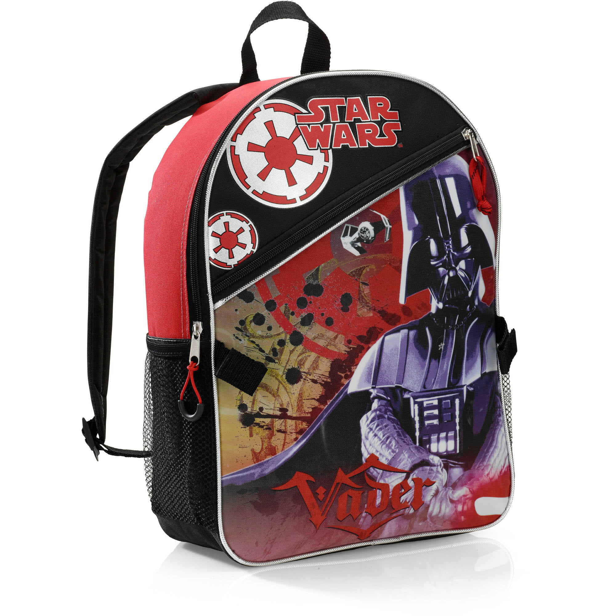 Star Wars 16\'\' Darth Vader Kids Backpack With Detachable Lunch Kit ...