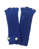 Michael Kors Thermal Knit Fingerless Gloves, Sapphire Blue