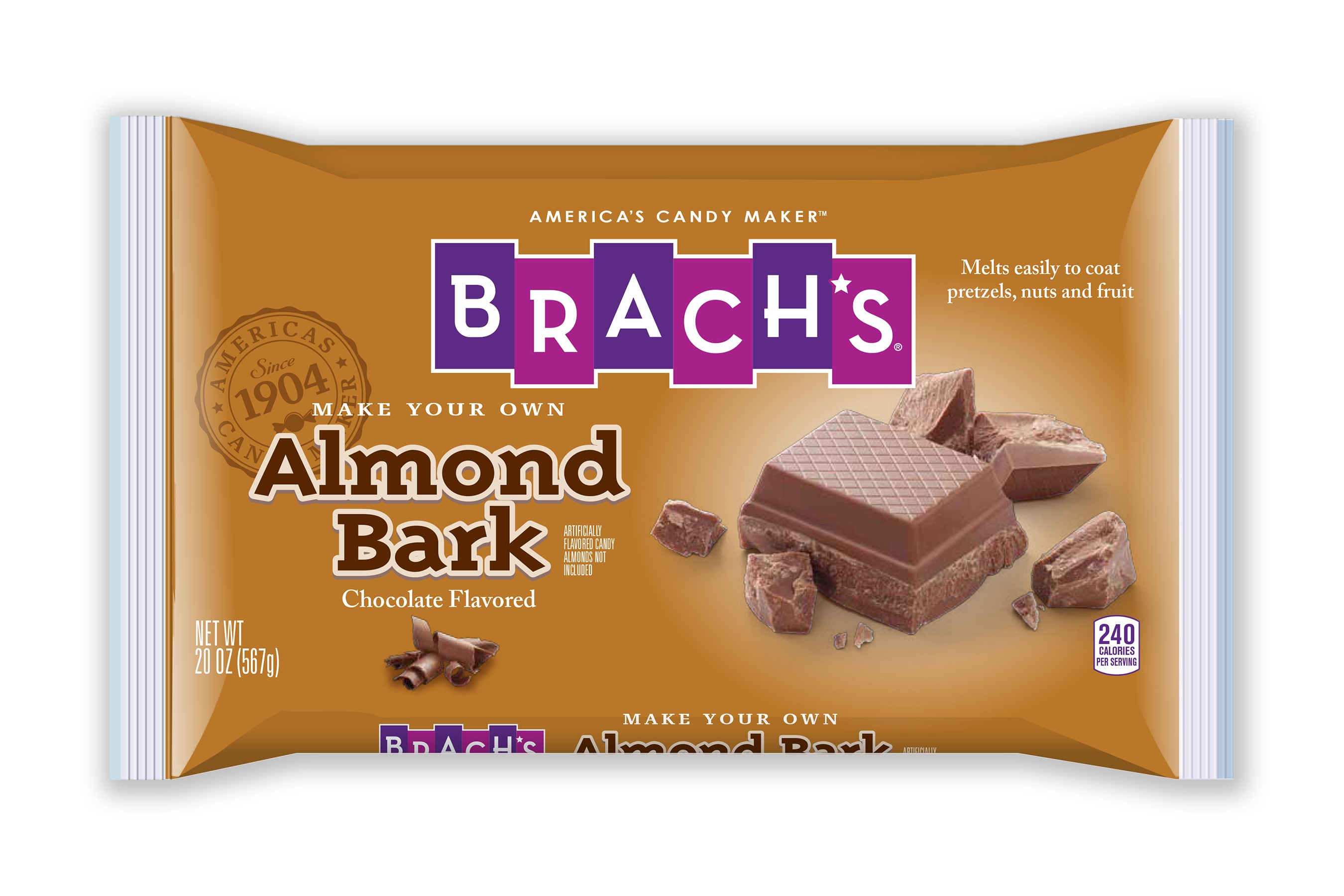 brach s chocolate almond bark 20 oz walmart