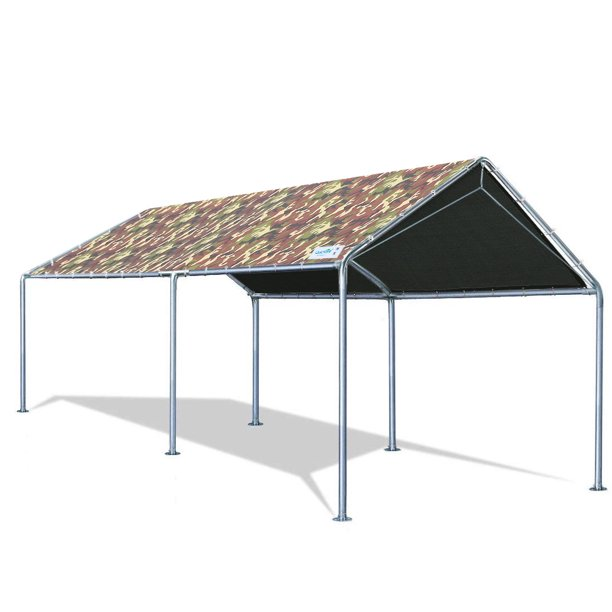 Quictent 10X20'ft Upgraded Heavy Duty Carport Car Canopy Party Tent with Reinforced Steel Cables-Camo