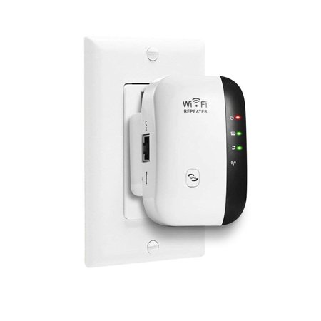 300Mbps Fast Speed WiFi Booster,Extends WiFi Range to Smart Home in Every Corner - WiFi Repeater Compatible with any Wireless Network,Mini Size Wall Plug Design,Easily Set (Best Way To Extend Wifi Range)