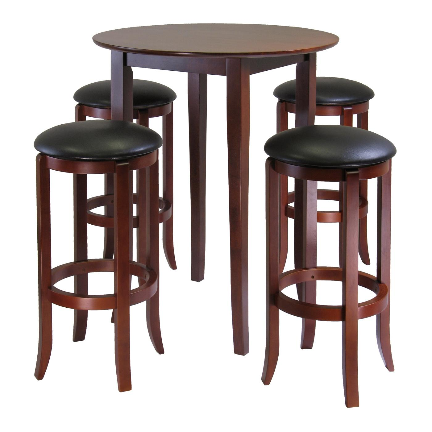 Winsome Fiona 5-Piece Round Pub High Table Set