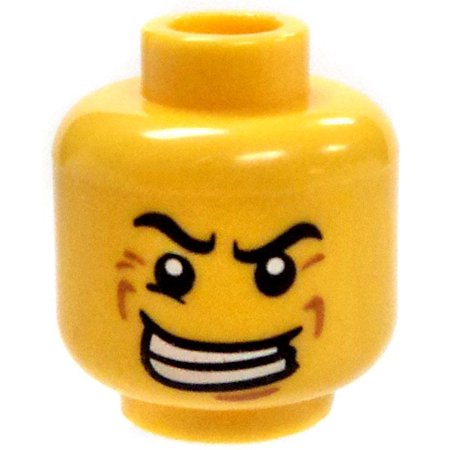 LEGO Minifigure Parts Crazed Look with Big Smile Minifigure Head