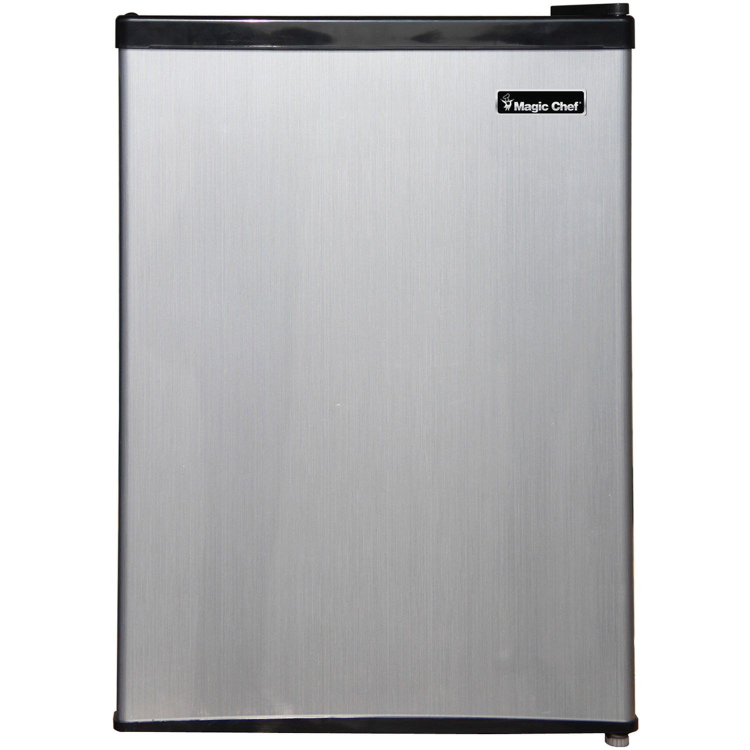 Magic Chef 2.4 Cu. Ft. Mini Refrigerator with Half-Width Freezer Compartment with Stainless Door