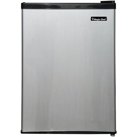 Magic Chef 2.4 Cu Ft Mini Refrigerator w/ Freezer MCBR240S1, Stainless (24 Refrigerator Bottom Freezer)
