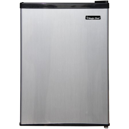 Magic Chef 2.4 Cu Ft Mini Refrigerator w/ Freezer MCBR240S1, (Spt 2-4 Cu Ft Compact Refrigerator Stainless Steel)