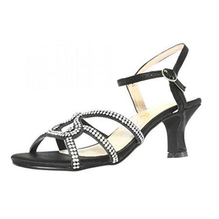 15cf002c09e Amiana - Amiana Girl s Rhinestone Kitten Heel Dress Sandal