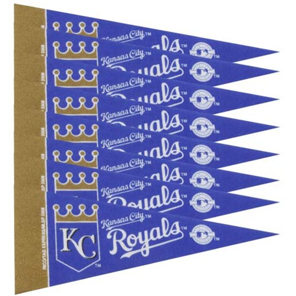 Kansas City Royals Official MLB 4 inch  x 9 inch  Mini Pennants by Rico Industries